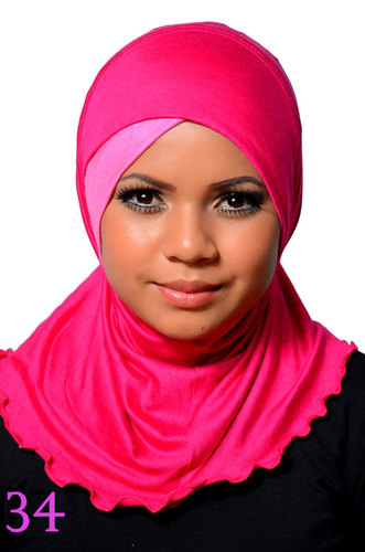 One piece Hijab Fuchsia/Pink