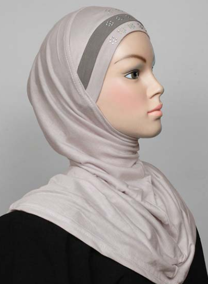 Amira Hijab Light Grey