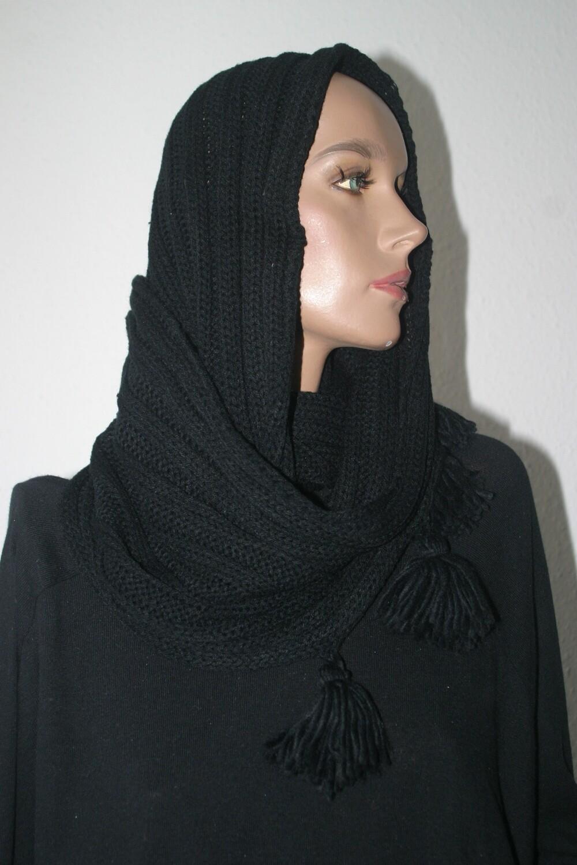 Schlauchschal schwarz - Echarpe tube noire - Tube scarf black