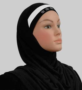 Amira Cotton Black / White