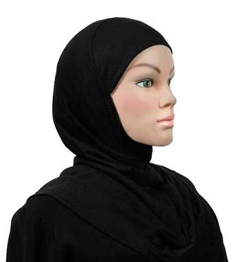 Amira Hijab Baumwolle hellblau