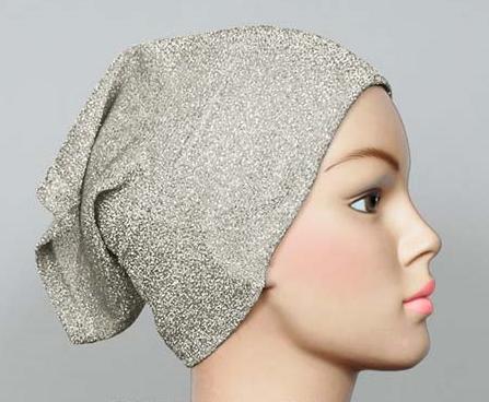 Glitzer Bonnet, verschiedene Farben, Bonnet scintillant plusieurs couleurs