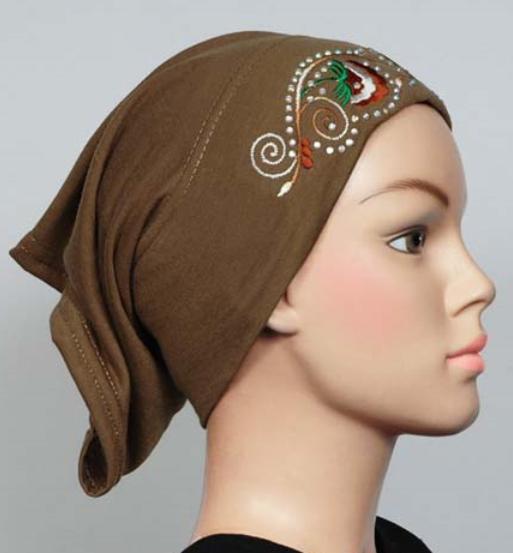 Cotton hijab cap Brown