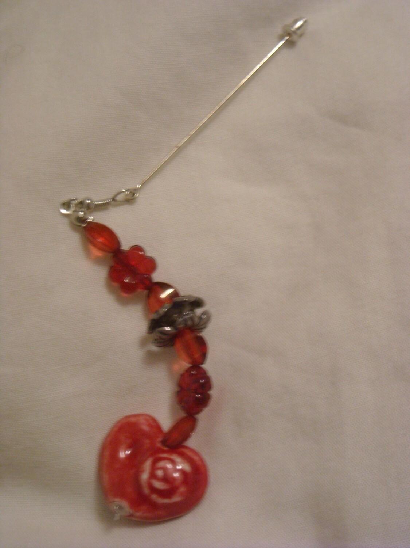 Hijab Pin Red Heart