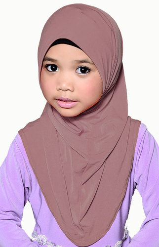 Girls Hijab Altrosa / Vieux rose / rose