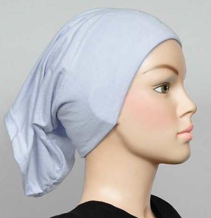 Bonnet Hellblau / Bleu clair / Baby Blue