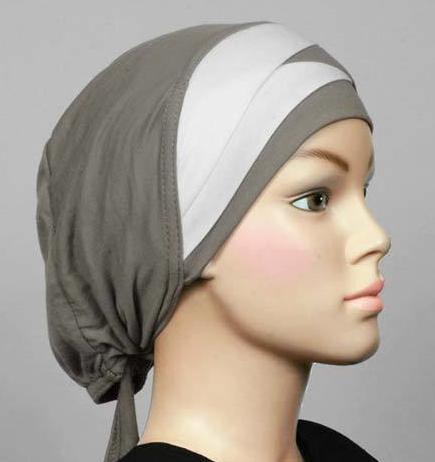 Bonnet bicolore light grey