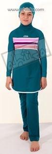 Ahiida® Burqini®™ Girls Emerald Stripes