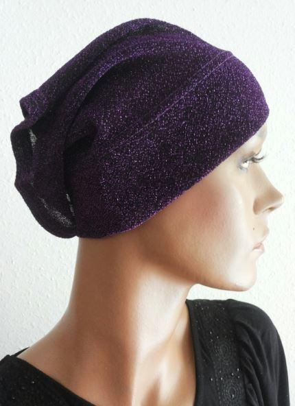 Glitzer Bonnet violet / Bonnet scintillant violet