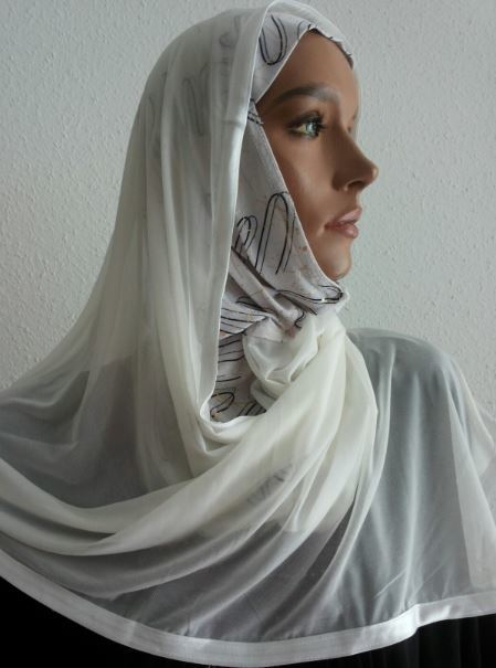 Kuwait Hijab White