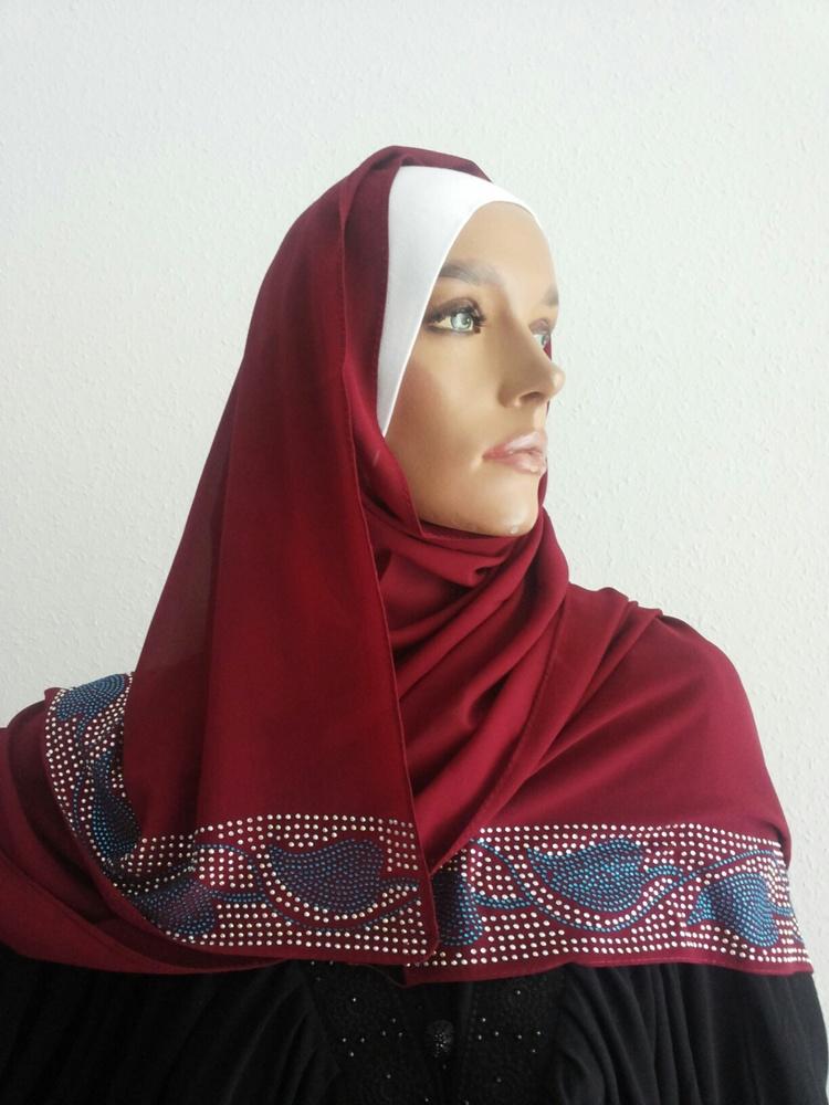 Dubai Schal mit Strass / Echarpe Dubai strass / Dubai scarf with strass Taupe