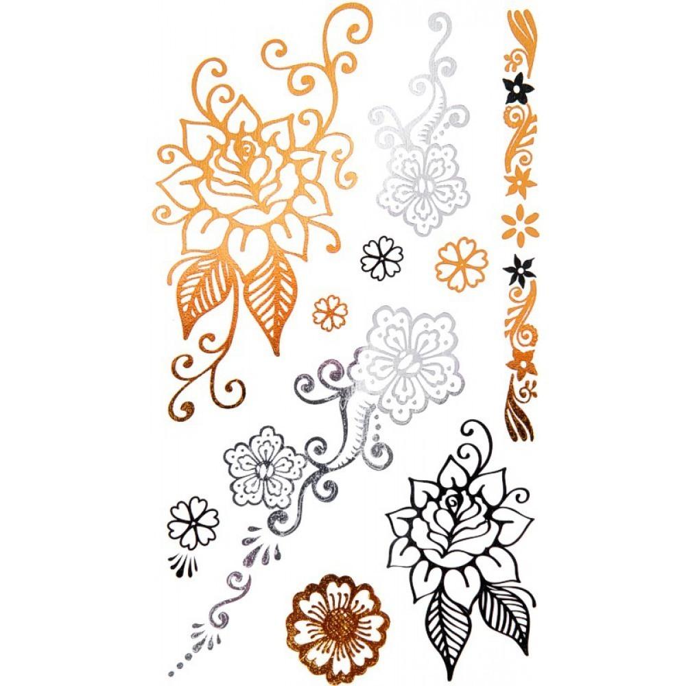Flower Temporary Tattoo