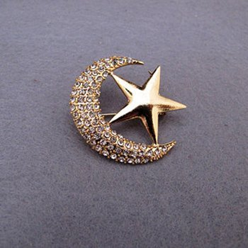 Moon and Stars brooch