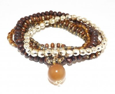 Bracelet multiple Marron