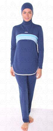 Ahiida Burqini® Sportz-Fit Navy Stripes