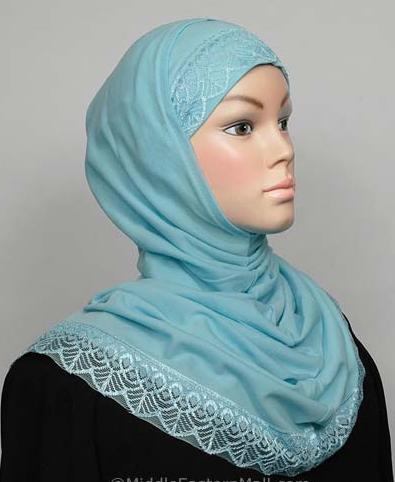 Amira Hijab Spitze Aqua / Amira Hijab dentelle aqua