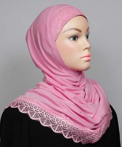 Amira Hijab Spitze hellrosa / Amira Hijab dentelle rose clair