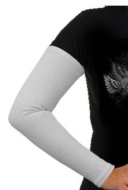 Aermel, Baumwolle, weiss / Manches cotton, blanc / Sleeves, cotton white