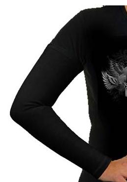 Aermel, Baumwolle, schwarz / Manches cotton, noir / Sleeves, cotton black