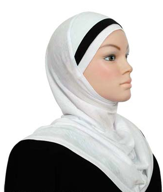 Einteiliger Amira, Baumwolle, schwarzweiss / Amira cotton noir et blanc / Amira cotton black & white