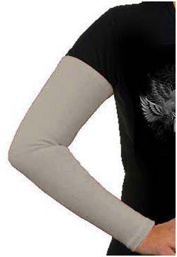 Aermel, Baumwolle, mittelgr au  / Manches cotton, gris / Sleeves, cotton grey