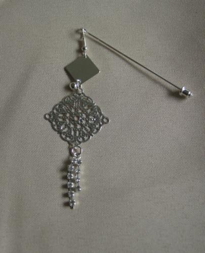 Hijab Pin Silver Charm