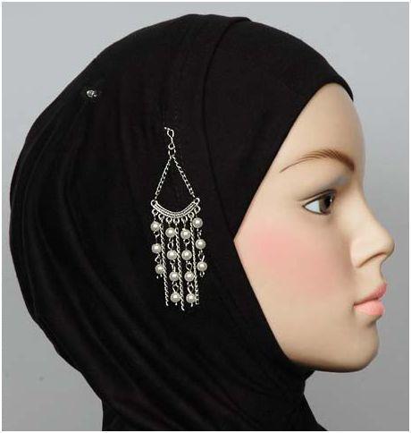 Hijab pin perles