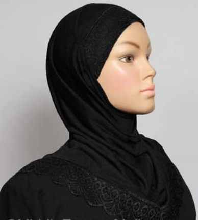 Girls Hijab Black