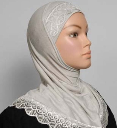 Girls Hijab light grey