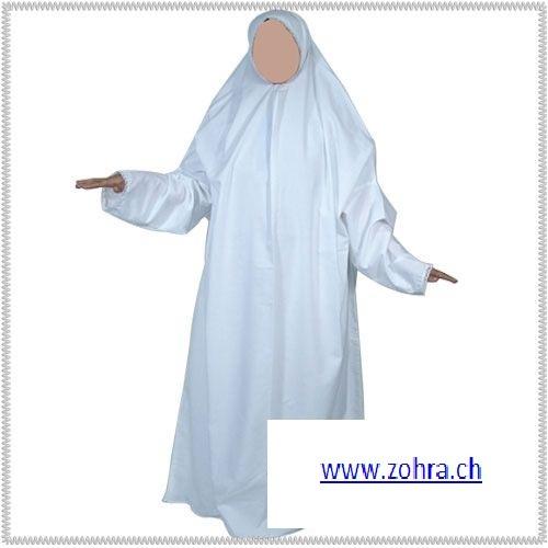 Gebetskleidung weiss / blanc / white
