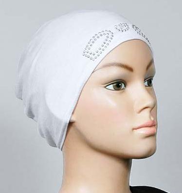 Bonnet strass weiss / blanc / white