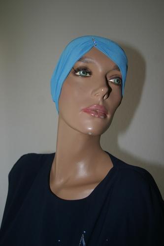 Butterfly bonnet light blue