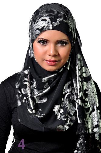Laser scarf Black