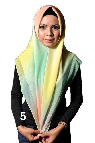 Foulard carré pastel multicolore