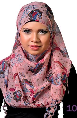 Laser scarf Rose