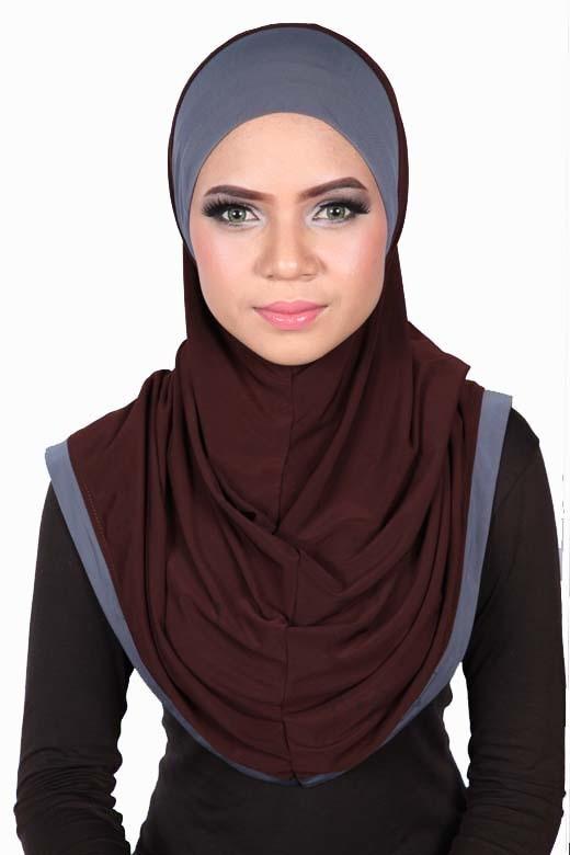 Express One Piece Hijab Brown/Grey