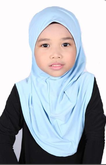 Girls Hijab Light Blue