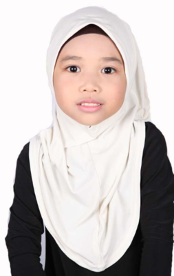 Girls Hijab Beige