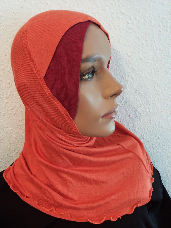 Long Bonnet Orange Red