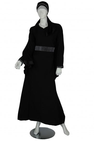 Black Abaya mit Strass / avec strass / with strass