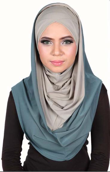 Smart Cut Hoodie Hijab Steel