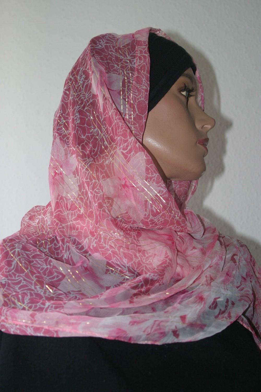 Seidenschal rosa - Echarpe légère en soie rose - Light silk scarf rose