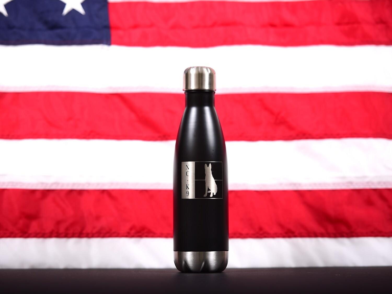 NC K9  17 oz  Stainless Steel Water Bottle