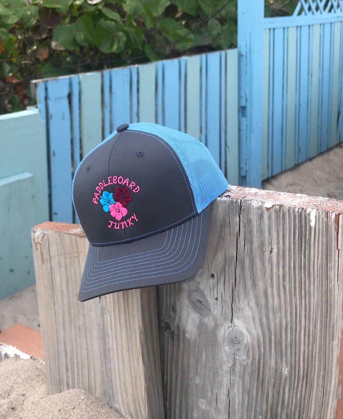 Charcoal/Columbia Blue Trucker