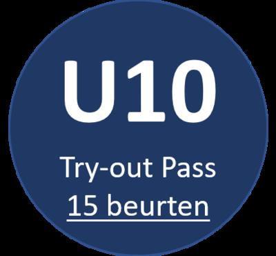 U10 Try-out Pass (15 beurten)