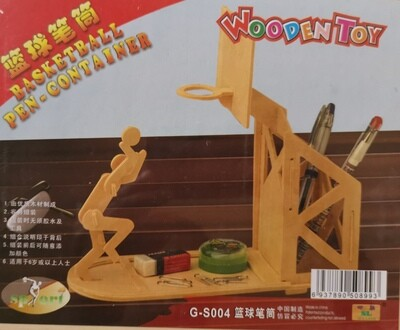 DIY 3D Wooden Puzzle Building Kit - Basketball Pen Container (2H Sheets)
