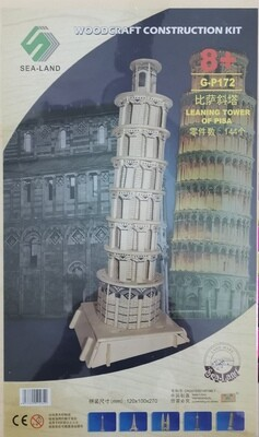 DIY 3D Wooden Puzzle Building Kit  - Leaning Tower of Pisa(3 Full Sheets)