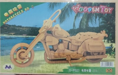 DIY 3D Wooden Puzzle Building Kit  -  3FS - Motorcycle HD (3 Full Sheets)