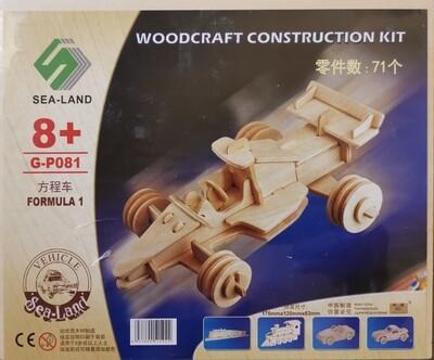 DIY 3D Wooden Puzzle Building Kit  - Formula 1 (3H Sheets)