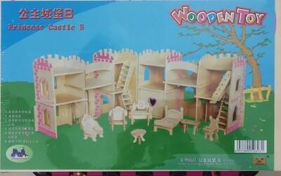 DIY 3D Wooden Puzzle Building Kit  - Princess Castle B (4 Full Sheets)